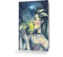 Occult Death - Witch with Skull Greeting Card