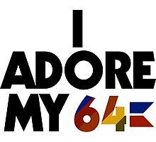 I Adore My 64 (Black) Photographic Print