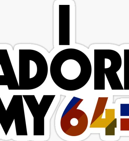 I Adore My 64 (Black) Sticker
