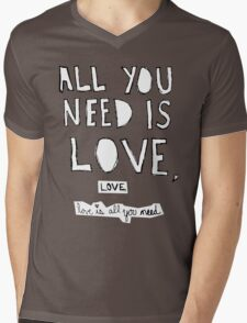All You Need Is Love, Mens V-Neck T-Shirt
