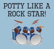 Potty Like A Rock Star Kids Clothes