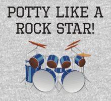 Potty Like A Rock Star One Piece - Short Sleeve
