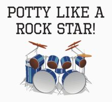 Potty Like A Rock Star Kids Tee