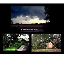 'Mini Cyclone' hits Maclean Photographic Print