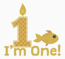 First Birthday Goldfish One Piece - Short Sleeve