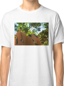 Whimsical  Building Through the Trees - Impressions Of Barcelona Classic T-Shirt