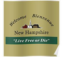 Welcome to New Hampshire, Road Sign, USA Poster