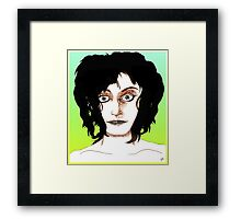 Casual Face Drawing Framed Print