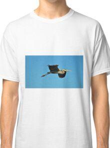 Great Blue Heron In Flight Classic T-Shirt