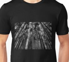 Stover Trees in Black and White Unisex T-Shirt