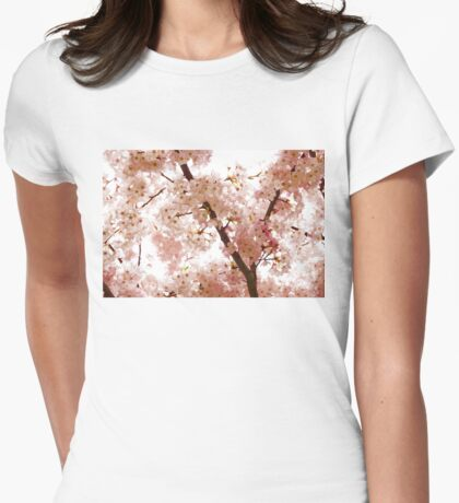 Pink Cherry Blossoms - Impressions Of Spring Womens Fitted T-Shirt