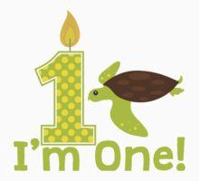 First Birthday Sea Turtle One Piece - Long Sleeve