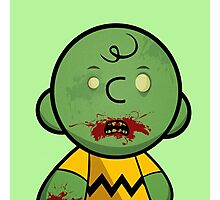 Zombie Charlie Brown Photographic Print