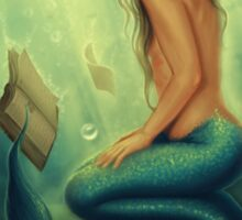 Lost Books 2 - Mermaid Reading Underwater Sticker