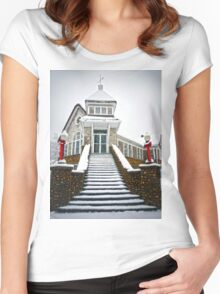 Church in the Snow Women's Fitted Scoop T-Shirt