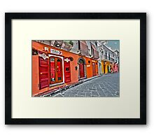 Coloured lane Framed Print