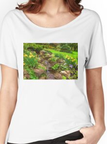 The Little Creek in the Garden - Impressions Of Spring Women's Relaxed Fit T-Shirt