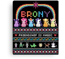 Bundle Up Brony Canvas Print