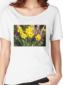 Sunny Daffodil Bouquet – Impressions Of Spring Women's Relaxed Fit T-Shirt