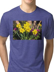 Sunny Daffodil Bouquet – Impressions Of Spring Tri-blend T-Shirt