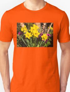 Sunny Daffodil Bouquet – Impressions Of Spring Unisex T-Shirt