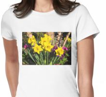 Sunny Daffodil Bouquet – Impressions Of Spring Womens Fitted T-Shirt