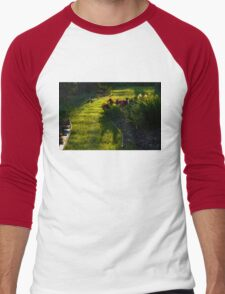 Green Garden Path - Impressions Of Spring Men's Baseball ¾ T-Shirt