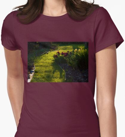 Green Garden Path - Impressions Of Spring Womens Fitted T-Shirt
