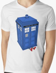 The Doctor is In Mens V-Neck T-Shirt