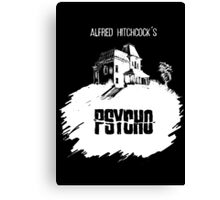 Alfred Hitchcock's Psycho by Burro! (black tee version) Canvas Print
