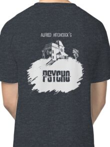 Alfred Hitchcock's Psycho by Burro! (black tee version) Classic T-Shirt