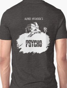Alfred Hitchcock's Psycho by Burro! (black tee version) T-Shirt
