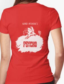 Alfred Hitchcock's Psycho by Burro! (black tee version) Womens Fitted T-Shirt