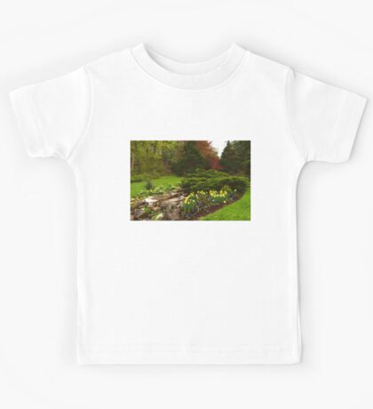 New Leaves and Flowers - Impressions Of Spring Kids Tee