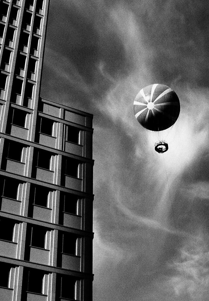 Balloon over Potsdamer Platz in Berlin (and the Ritz-Carlton Hotel) by StudioDestruct