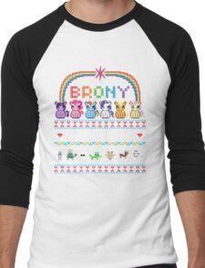 Bundle Up Brony Men's Baseball ¾ T-Shirt
