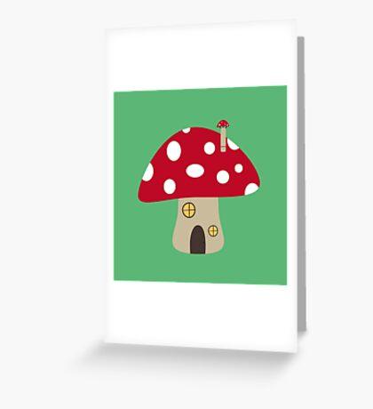 Mushroom House Greeting Card