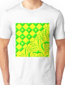 Green and Yellow Butterfly Design Unisex T-Shirt