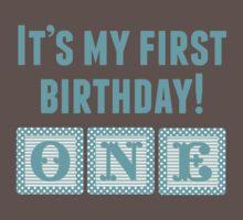 It's My First Birthday Boy One Piece - Short Sleeve