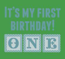 It's My First Birthday Boy Kids Tee