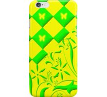 Green and Yellow Butterfly Design iPhone Case/Skin
