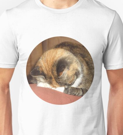 Calico Cat playing hide and seek Unisex T-Shirt