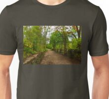 Dreamy Forest Road With Flowers - Impressions Of Spring Unisex T-Shirt