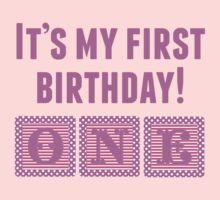 It's My First Birthday Girl One Piece - Long Sleeve
