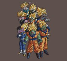 Dragonball Z - Super Saiyans = Dragons by eevilmurray