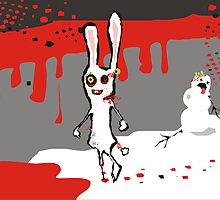 zombie bunny rabbit snowman brains january calendar by BigMRanch