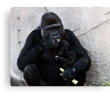 Mother and child - sharing ! Canvas Print
