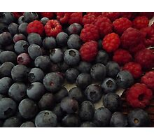 Rasberries and Blueberries Photographic Print