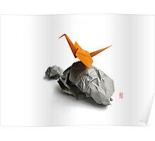 Rocking Crane Poster