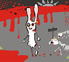 zombie bunny lion & lamb brains march calendar by BigMRanch